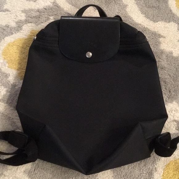96fce961aa79 Longchamp Handbags - RARE Black on black Longchamp Le Pliage Backpack